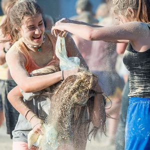 Exemple fotografia documental o social. Guerra de farina.