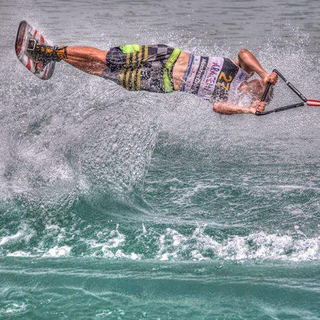Exemple de fotografia esportiva. Skí aquàtic.